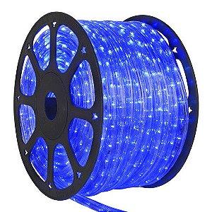 Mangueira LED Achatada Azul 100 metros 220v Ultra Intensidade - A prova dágua