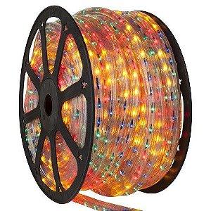 Mangueira LED 100 metros 110v RGB MultiColorido Ultra Intensidade - A prova dágua