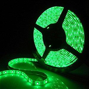 Fita LED 5050 Verde Siliconada Prova D'água 5 Metros + Fonte