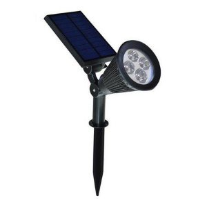 Luminária Solar 2W LED Espeto de Jardim Branco Frio A prova D'Água