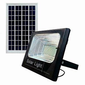 Refletor Painel Solar 200W LED Bateria Litio Recarregável Com Controle Branco Frio IP67