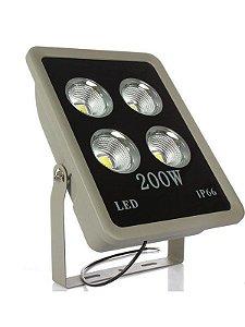 Refletor Holofote LED 200W Cob Branco Frio - Multifocal