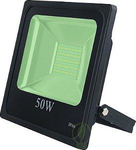 Refletor Holofote LED 50W SMD IP66 A prova D'Água Verde