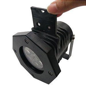Luminária 3W Espeto Jardim Laser Ip66 Enfeite Natal 3 Cartuchos