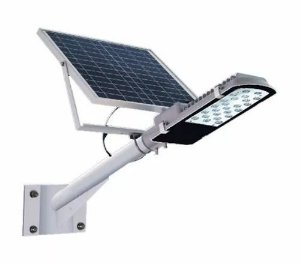 Luminária Publica De Poste Solar 120W LED Com placa Voltaica Auto Recarregavel Branco Frio 6000k