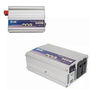 Inversor para Placa Solar 500W 12v 110v