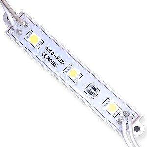 Módulo de LED 5050 SMD 3 LEDs Branco Frio 6000k