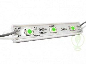 Módulo de LED 5050 SMD 3 LEDs Verde