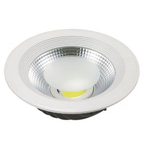 Spot 20W LED Dicróica Redondo Gesso Sanca De Embutir Branco Frio 6000k