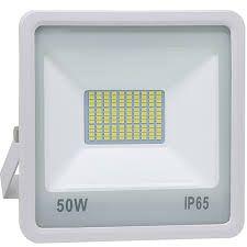 Refletor LED Holofote 50w SMD IP65 A prova D'Água Branco Frio 6000k Carcaça Branca