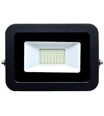 Refletor MicroLED Ultra Thin 10W Black Type Branco Frio 6000k  Carcaça Preta