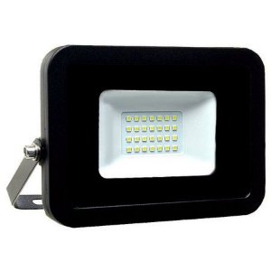 Refletor MicroLED Ultra Thin 30W Black Type Branco Frio 6000K Carcaça Preta