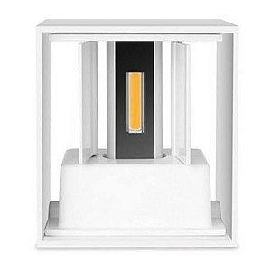 Luminária Arandela LED 6W Branco Quente Cubo Branco