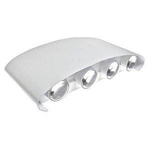 Luminária Arandela LED 24W A prova d'agua IP66 Branco Quente 3000k - Externa Branca