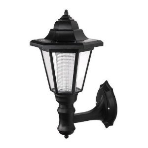 Luminária Arandela Solar Colonial 3W LED de Parede Auto Recarregável Fotocélula