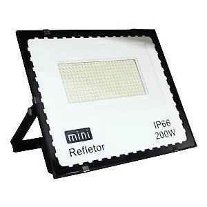 Mini Refletor Holofote LED SMD 200W Branco Frio IP67