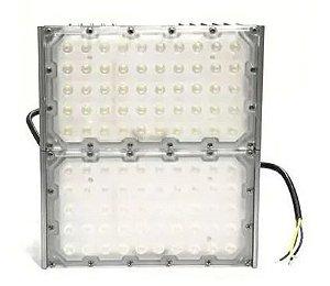 Refletor Holofote Modular LED 100W Branco Frio IP66 A Prova D'agua Bivolt