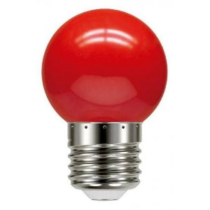 Lâmpada 1W LED Bolinha Vermelha