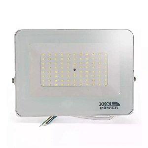 Refletor MicroLED Ultra Thin 30W Branco Frio White Type Carcaça Branca