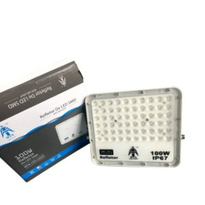 Refletor MicroLED Ultra Thin 100W White Type Branco Frio Carcaça Branca