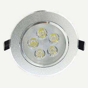 Spot Dicróica 5W LED Direcionável De Aluminio Branco Frio 6000k