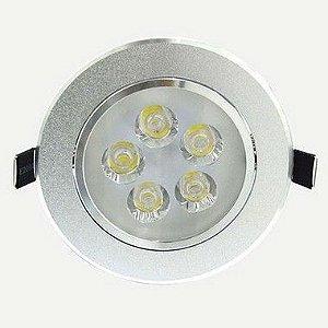Spot Dicróica 5W LED Direcionável De Aluminio Branco Quente 3000k
