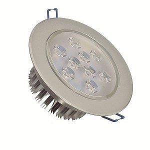 Spot Dicróica 9W LED Direcionável De Aluminio Branco Quente 3000k