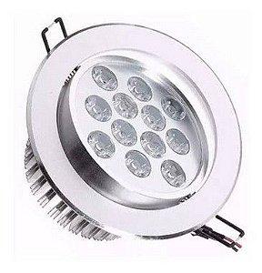 Spot Dicróica 12W LED Direcionável De Aluminio Branco Frio 6000k