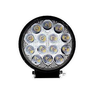 Farol de Milha 48W LED Redondo Auxiliar Automotivo