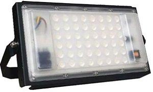 Refletor Holofote Modular LED 50W Vermelho IP66 A Prova D'agua Bivolt