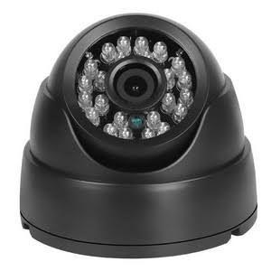 Câmera De Segurança Cftv Dome Ccd Infra Vermelho 24 Leds 30 metros 1000 Linhas 3,6 Preta