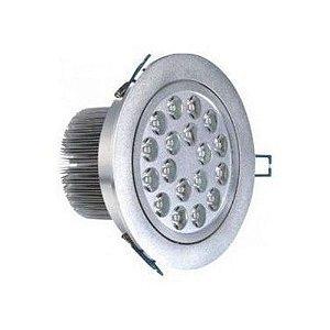 Spot Dicróica 18W LED Direcionável De Aluminio Branco Frio 6000k