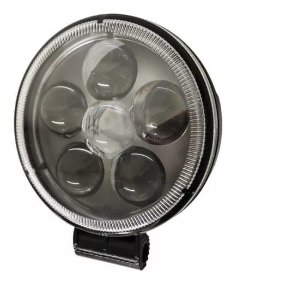 Farol de Milha 18W LED Redondo Auxiliar Automotivo