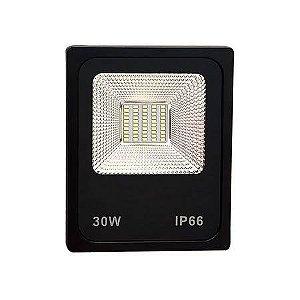 Refletor Holofote LED 30W SMD IP66 A prova D'Água Branco Quente 3000k