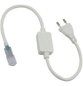 Tomada Para Fita LED Branco Frio / Quente 110v 220v