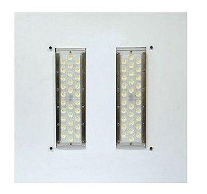 Luminária LED 100W Posto de Gasolina Branco Frio 6000k