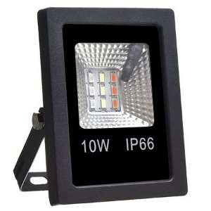 Refletor Holofote MicroLED 10W SMD a prova D'Água IP66 RGB com Controle