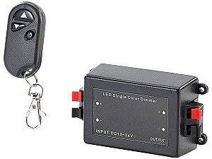 Controlador Ajustável 8A Para Fita Dimmer Led 1 Cor | Com Controle