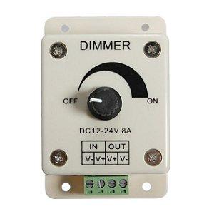 Controlador Ajustável 8A Dimmer Para Fita Led 1 Cor