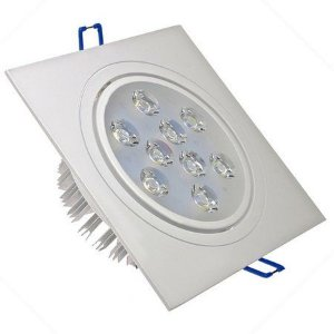 Spot 9W LED Dicróica Direcionável Quadrado Gesso Sanca De Embutir Branco Frio 6000k