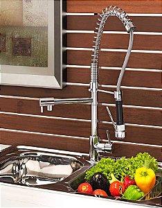 Torneira para Cozinha Gourmet Bica Alta Flexivel Misturador Monocomando