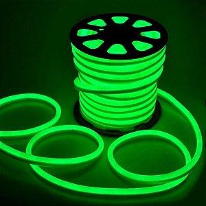 Fita Mangueira LED 110v 100 Metros Flexível Neon Verde