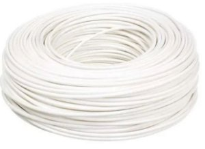 Cabo Energia 100 Mts Fio Elétrico Flexível 1,5mm Branco