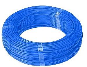 100 Mts Fio Elétrico Flexível 4,0mm Azul Cabo Energia