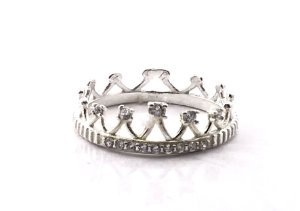 Anel em Prata 925 Coroa Marquesa Aro 17