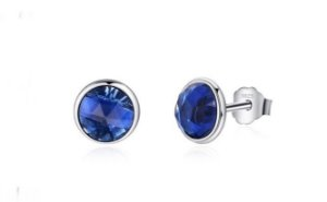 Brinco em Prata 925 Pingo Azul