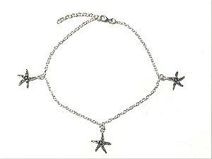 Tornozeleira em Prata 925 Estrela do Mar