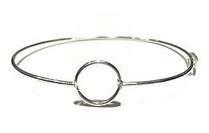 Bracelete Rígido Geométrico em Prata 925