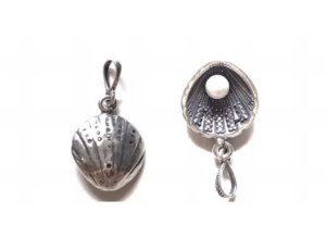 Pingente Concha com Pérola em Prata 925