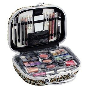 maleta de maquiagem Fenzza onça